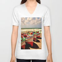 boats V-neck T-shirts featuring boats by  Agostino Lo Coco