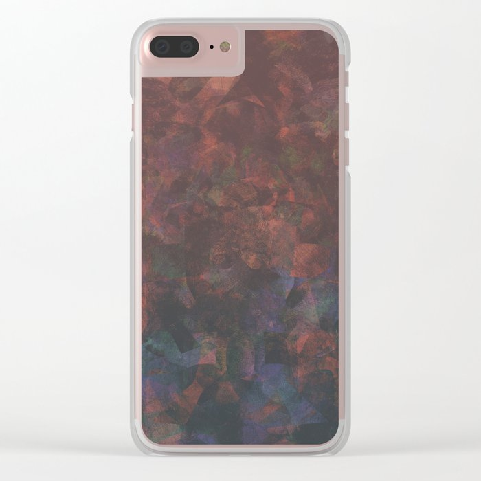 Camouflage XIV Clear iPhone Case