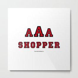 Triple-A Shopper – red Metal Print