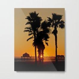 Surf City Sunset  9/22/14 Metal Print