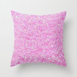 Pink Glitter Throw Pillow