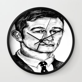 Joseph Gordon-Levitt drawing Wall Clock