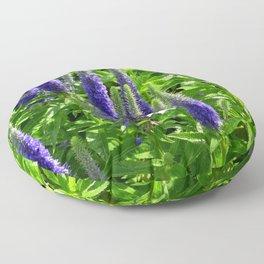 White, Blue and Green Nature Scene Floor Pillow
