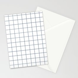 Chek - check grid simple minimal black and white modern urban brooklyn nashville hipster gifts Stationery Cards