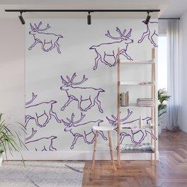 Reindeer Herd Wall Mural