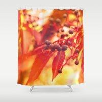 wine Shower Curtains featuring Wild Wine by Christine baessler