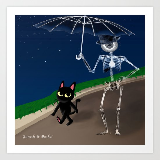 """Walk of Night"" Art Print"