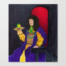 King Charles the Ventriloquist  Canvas Print