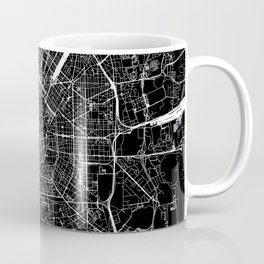 Milan Black Map Coffee Mug