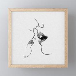 First kiss me . Framed Mini Art Print