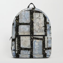 Blue Street Grid Backpack