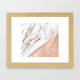 Marble rose gold blended Framed Art Print
