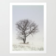 Alone in the Storm Art Print