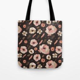 Bohemian rose floral Tote Bag