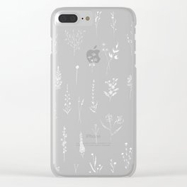 Black wildflowers Clear iPhone Case