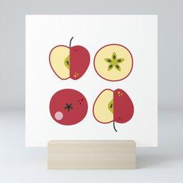 Red apples Mini Art Print