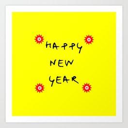 happy new year 13 Art Print