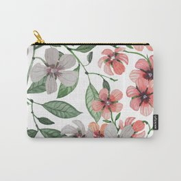 FLOWERS WATERCOLOR 12 Carry-All Pouch