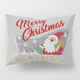 Santa Claus with sled Pillow Sham