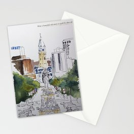 View of JFK BLVD, Philadelphia Stationery Cards