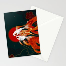 Two comets Stationery Cards