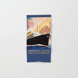 Venice Greece Istanbul shipping line retro vintage ad Hand & Bath Towel