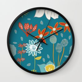 Happy Flowers Collection Wall Clock