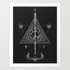 Deathly Hallows Art Print