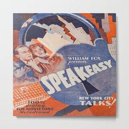Vintage Movie Poster - Speakeasy Metal Print
