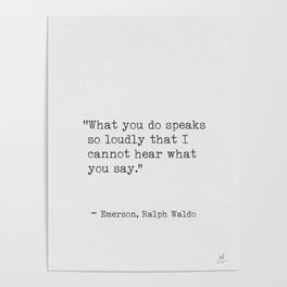 Emerson Ralph Waldo quote awesome 5 Poster