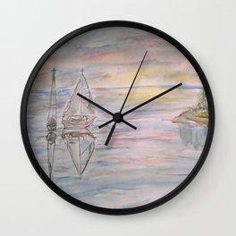 Calm Sunset Wall Clock