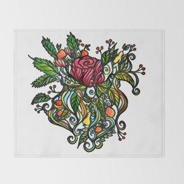 Rose Tattoo Throw Blanket