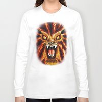 werewolf Long Sleeve T-shirts featuring Werewolf by BluedarkArt