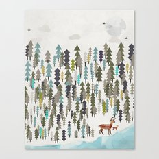the winter forest Canvas Print