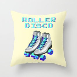 70's and 80's Throwback Funny Vintage Retro Roller disco Throw Pillow
