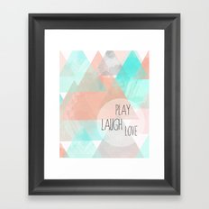 Watercolor Triangles Framed Art Print