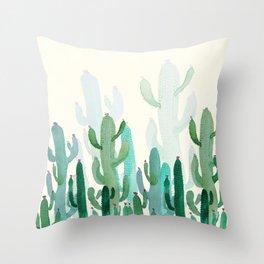 cactus world Throw Pillow
