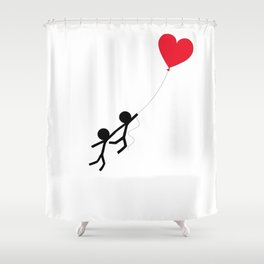 Love is in the air by Oliver Henggeler Shower Curtain