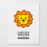 the lion king Canvas Prints featuring Lion & King by Jane Mathieu