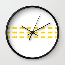 King Crowns Wall Clock