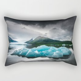 Iceberg at Spencer Lake Rectangular Pillow