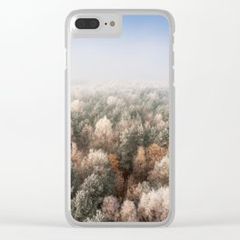 Vanish in the Snow Clear iPhone Case