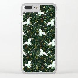 Unicorn Garden Clear iPhone Case