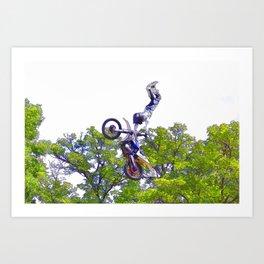 Hand Stand Pro - Freestyle Motocross Stunt Art Print