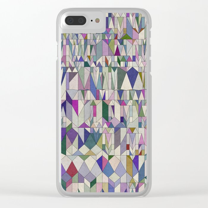 Architecture in Pink Clear iPhone Case