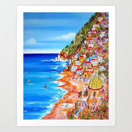 La Bella POSITANO by the Amalfi Coast Art Print