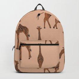 Giraffe neutral pattern Backpack