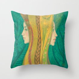 Summer / Dryads Throw Pillow