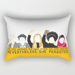 Nevertheless, She Persisted. Rectangular Pillow