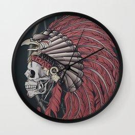 Eagle Skull Wall Clock